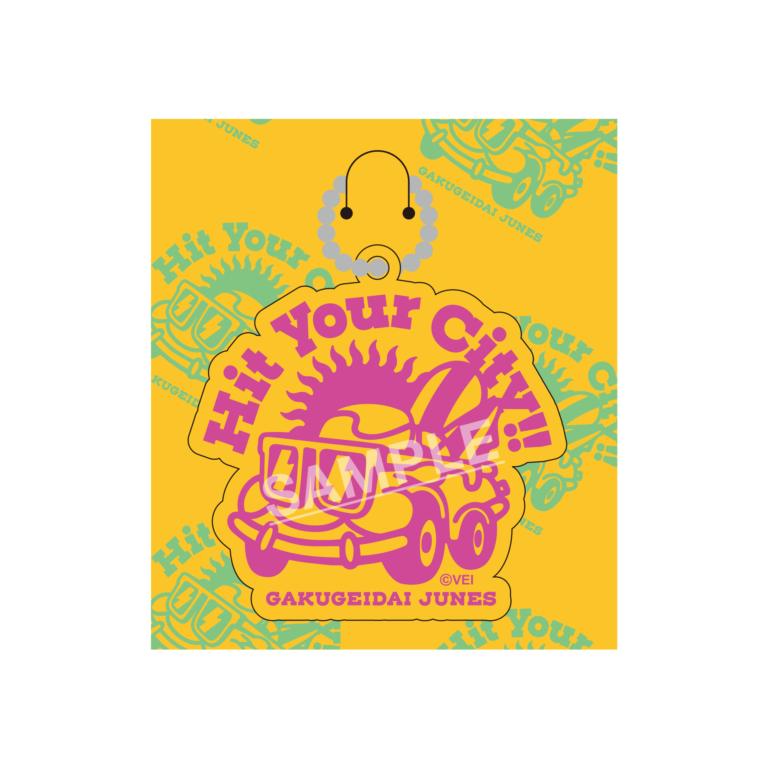 3rd LIVE TOUR「Hit your City!!」ラバーライブロゴキーホルダー